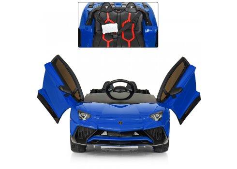 Детский 2-моторный электромобиль Lamborghini, M 3903EBLR-4 синий