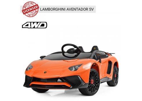 Детский 2-моторный электромобиль Lamborghini M 3903EBLR-7 оранжевый