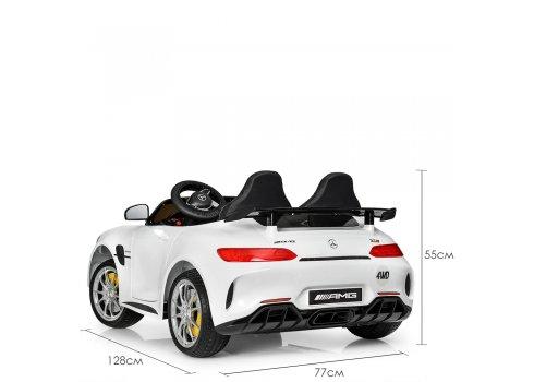 Детский двухместный электромобиль Mercedes-AMG GT, M 3905EBLR-1 белый