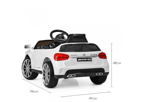 Детский электромобиль Mersedec AMG с кожаным сиденьем M 3995EBLR-1 белый