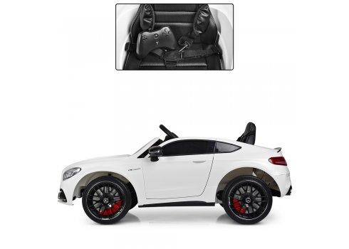 Детский электромобиль Mercedes с кожаным сиденьем, M 4010EBLR-1 белый