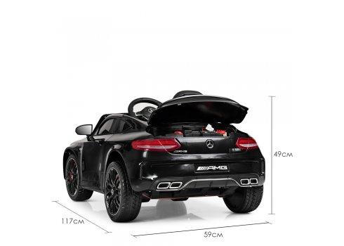 Детский электромобиль Mercedes с кожаным сиденьем, M 4010EBLR-2 черный