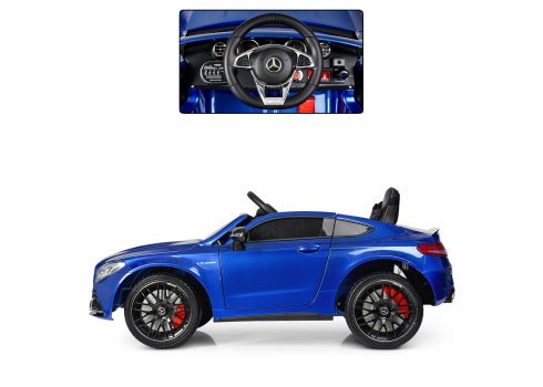 Детский электромобиль Mercedes с автопокраской, M 4010EBLRS-4 синий