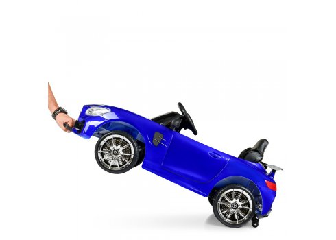 Детский электромобиль Mercedes AMG M 4105EBLRS-4 покраска синий