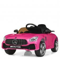 Детский электромобиль Mercedes AMG M 4105EBLRS-8-2 покраска малиновый