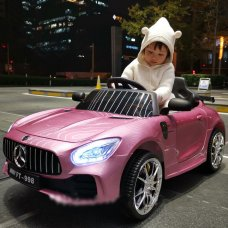 Детский электромобиль Mercedes AMG M 4105EBLRS-8 покраска розовый