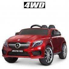 Детский электромобиль 4WD Mercedes AMG CLA 45 (Мерседес) BAMBI M 4124EBLRS-3 покраска красный