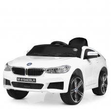 Детский электромобиль BMW с кожаным сиденьем Bambi M 4194EBLR-1 белый