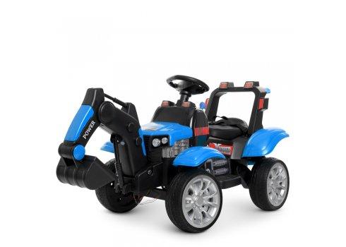 Детский электромобиль Трактор Bambi M 4263EBLR-4 синий