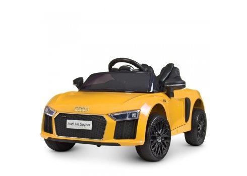 Детский электромобиль машина (Ауди) Audi R8 Spyder M 4281EBLR-6 желтый