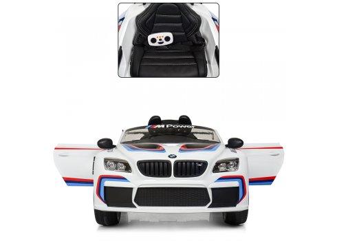 Детский электромобиль BMW M6 GT3 с кондиционером M 5405EBLR-1 белый