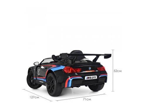 Детский электромобиль BMW M6 GT3 с кондиционером M 5405EBLR-2 черный