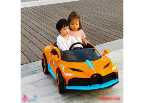 Детский электромобиль Bugatti легковая машина Tilly T-7657 EVA ORANGE оранжевый