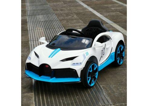 Детский электромобиль Bugatti легковая машина Tilly T-7657 EVA WHITE белый
