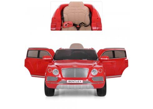 Детский 2-х моторный электромобиль Bentley с кожаными сиденьями, JJ 2158EBLR-3 красный