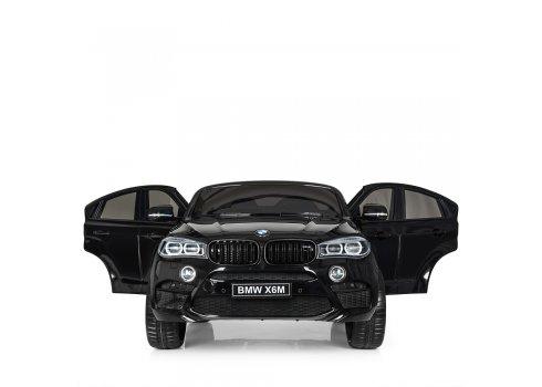 Детский двухместный электромобиль Джип BMW X6 с кожаным сиденьем JJ2168EBLR-2 черный
