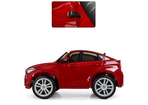 Детский двухместный электромобиль Джип BMW X6 с кожаным сиденьем JJ2168EBLRS-3 красный автокраска