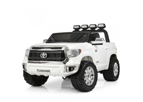 Мощный двухместный электромобиль Toyota Tundra с кожаным сиденьем JJ2255EBLR-1 белый