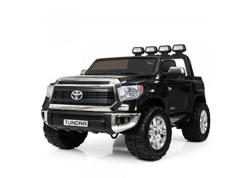 Мощный двухместный электромобиль Toyota Tundra с кожаным сиденьем JJ2255EBLR-2 черный