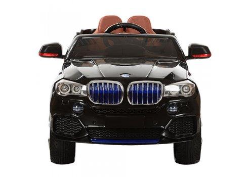 Детский электромобиль BMW X5 с кожаным сиденьем M 2762(MP4)EBLR-2 черный