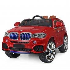 Детский электромобиль BMW X5 с кожаным сиденьем M 2762(MP4)EBLR-3 красный