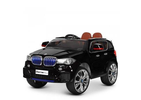 Детский электромобиль BMW X5 с кожаным сиденьем M 2762(MP4)EBLRS-2 черный с автопокраской