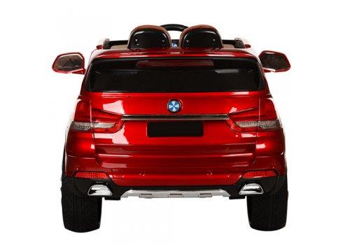 Детский электромобиль BMW X5 с кожаным сиденьем M 2762(MP4)EBLRS-3 красный с автопокраской