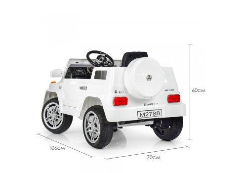 Детский электромобиль Джип MERCEDES BENZ Bambi M 2788EBLR-1 белый