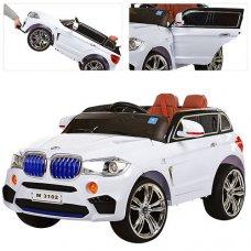 Детский электромобиль BMW с MP4 планшетом M 3102(MP4)EBLR-1 белый