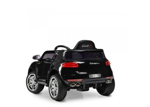 Детский электромобиль Porsche Macan Порше Макан M 3178EBRS-2 автопокраска черный