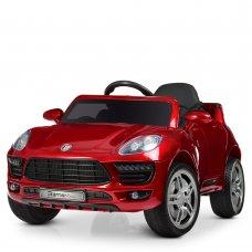Детский электромобиль Porsche Macan Порше Макан M 3178EBRS-3 автопокраска красный
