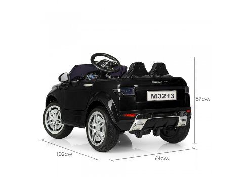 Детский электромобиль машина Джип Land Rover (Ленд Ровер) M 3213EBLR-2 черный