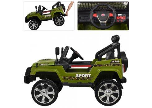 Детский полноприводный электромобиль JEEP BAMBI M 3237EBLR-10 хаки
