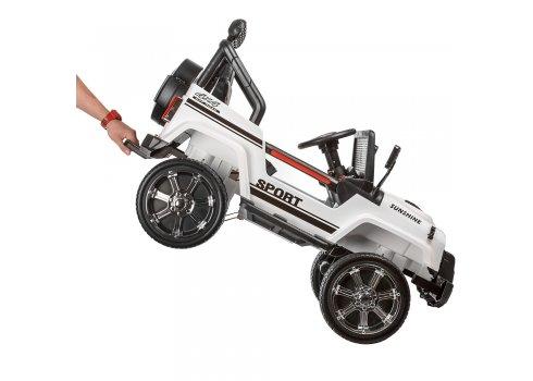 Детский полноприводный электромобиль JEEP BAMBI M 3237EBLR-1 белый