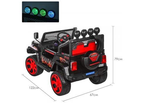 Детский полноприводный электромобиль JEEP BAMBI M 3237EBLR-2-3 черно-красный