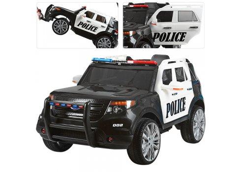 Детский электромобиль Джип POLICE с громкоговорителем, M 3259EBLR-1-2 черно-белый