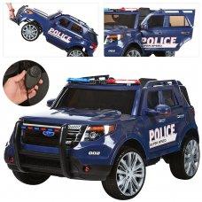 Детский электромобиль Джип POLICE с громкоговорителем, M 3259EBLR-4