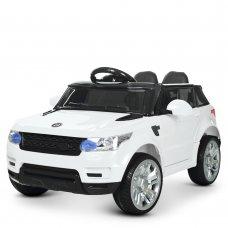 Детский электромобиль Джип Land Rover с кожаным сиденьем M 3402EBLR-1 белый