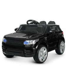 Детский электромобиль Джип Land Rover с кожаным сиденьем M 3402EBLR-2 черный