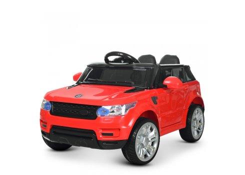 Детский электромобиль Джип Land Rover с кожаным сиденьем M 3402EBLR-3 красный