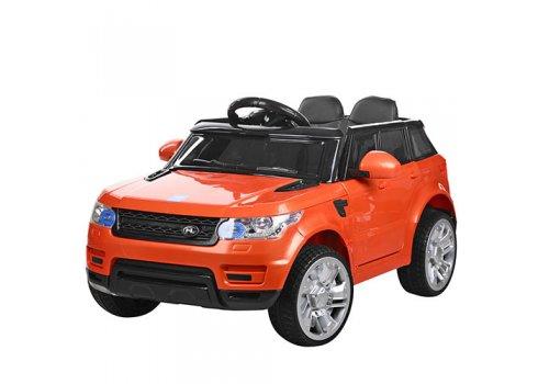 Детский электромобиль Джип Land Rover с кожаным сиденьем M 3402EBLR-7 оранжевый