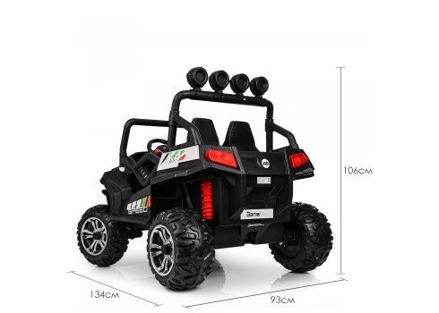 Детский двухместный электромобиль 4×4 Buggy (Багги) M 3454(2)EBLR-1 белый