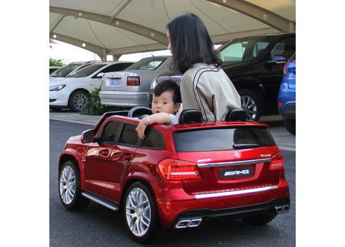 Двухместный детский электромобиль Mercedes с автопокраской, колеса EVA, M 3565 EBLRS-3 красный