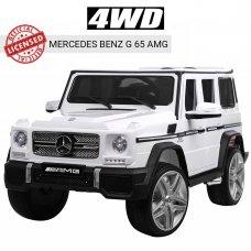 Детский электромобиль Джип Mercedes-Benz G65, M 3567EBLR-1(4WD) белый