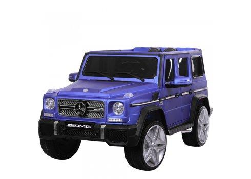 Детский электромобиль Джип Mercedes G65 (Мерседес Гелендваген) M 3567EBLRM-4 синий матовый