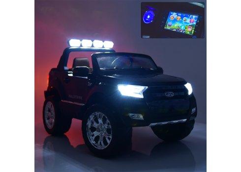Детский электромобиль Ford Ranger (Форд Рейнджер) с MP4 монитор M 3573(MP4)EBLR-1 белый