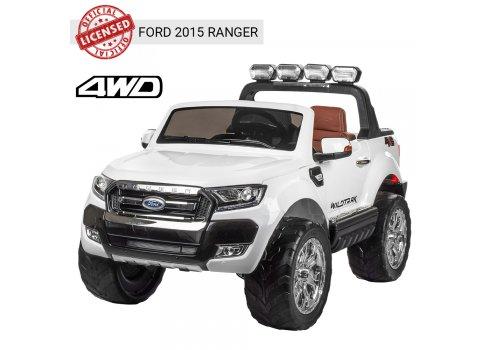 Детский двухместный электромобиль 4х4 Ford Ranger (Форд Рейнджер) M 3573EBLR-1 белый