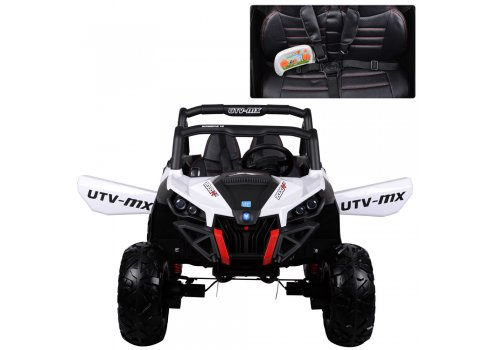 Детский 4х-моторный электромобиль Багги, M 3602EBLR-1 белый