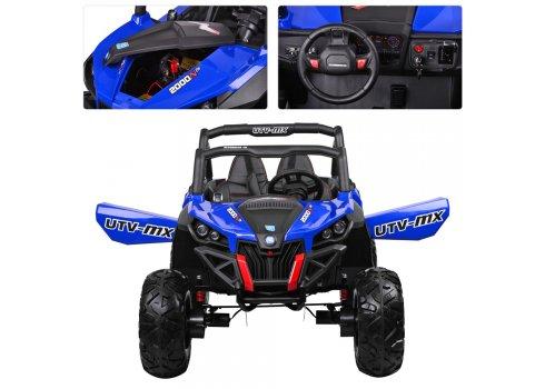 Детский 4х-моторный электромобиль Багги, M 3602EBLR-4 синий