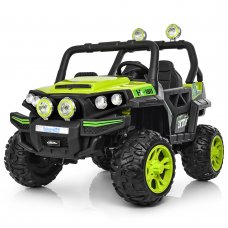 Детский 4-х моторный электромобиль внедорожник Buggy (Багги) M 3825EBLR-5 зеленый